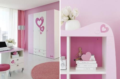 Rosa y Barbie para el Dormitorio de las Niñas - Decoracion.IN