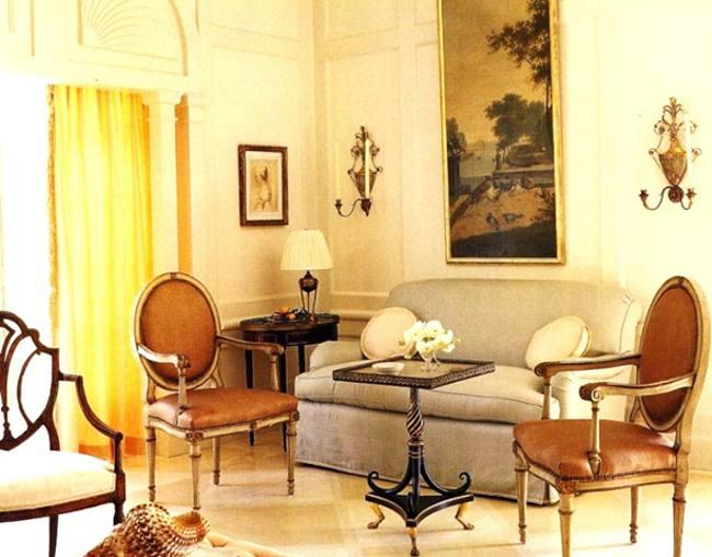Salones en tonos naturales decoracion in for Salones color tierra