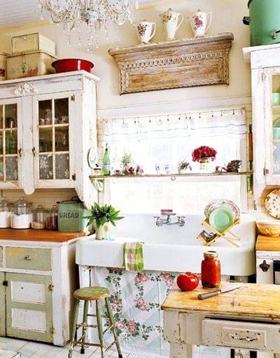 Estilo shabby chic en cocinas decoracion in - Vajilla shabby chic ...