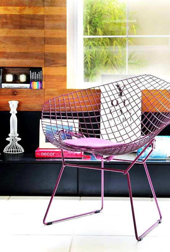 silla Diamond de Harry Bertoia