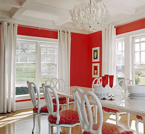 Tips decoracion de comedores decoracion in for Dining room ideas with red walls