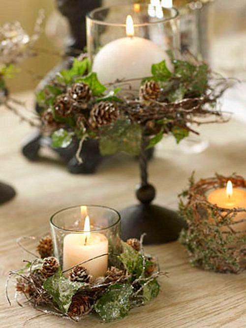 Tips decoraci n navidad centros de mesa originales for Adornos originales para navidad
