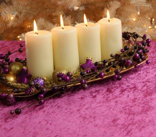 Tips decoraci n navidad centros de mesa originales - Centros de navidad con velas ...