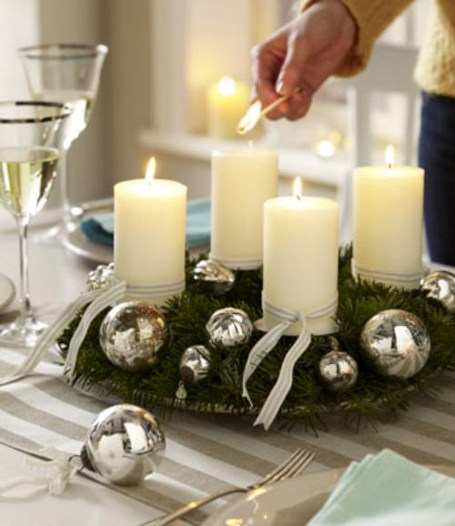 Tips decoraci n navidad c mo hacer un centro de mesa - Preparar mesa navidad ...