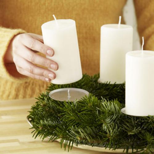 Tips decoraci n navidad c mo hacer un centro de mesa - Como hacer un centro de mesa navideno ...