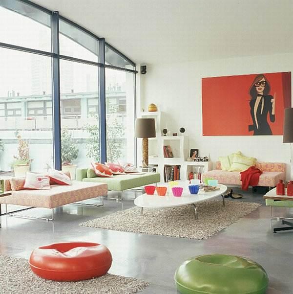 diseño de interiores para un espacio abierto