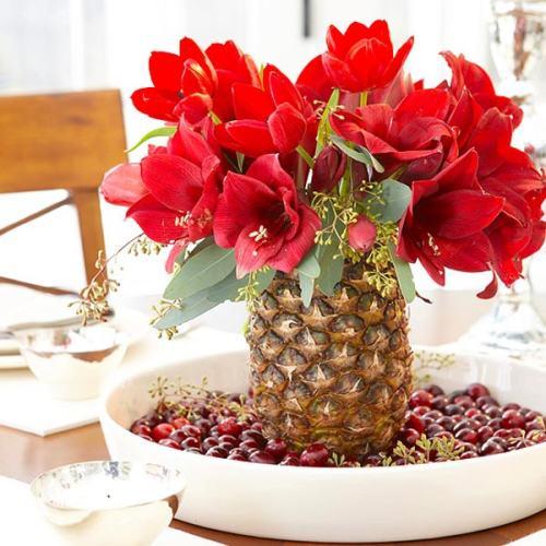 Tres ideas para hacer un centro de mesa natural en navidad - Ideas para hacer adornos de navidad ...