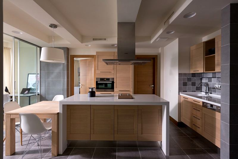 triángulo de trabajo en la cocina