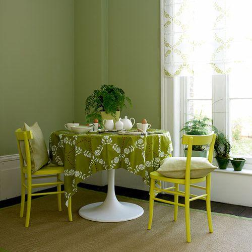 verde para el comedor decoracion in