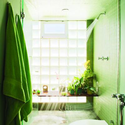 C mo usar el color en la decoraci n decoracion in for Cuartos de bano verdes