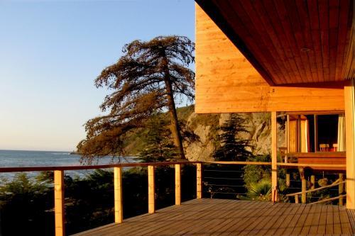 vista desde el deck de madera